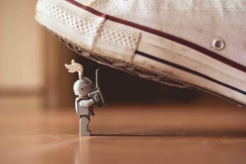 The Culture War knight shoe