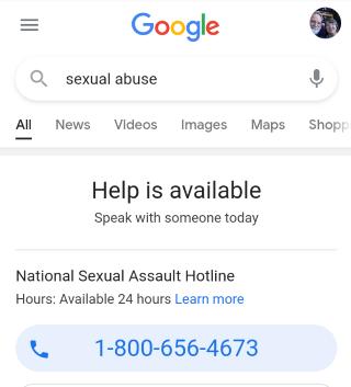 sexual abuse survivor google
