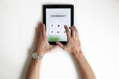We can care for others by interacting with social media.
